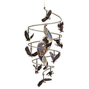 "Ted Blaylock ""Sovereign Spirits"" 9-Eagle Hanging Sculpture"