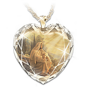 "Greg Olsen ""Always With You"" Crystal Heart Pendant"