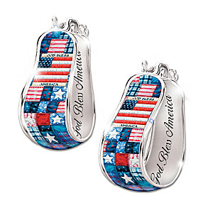 Patriotic Hoop Earrings With Mary Ann Lasher Quilt Art