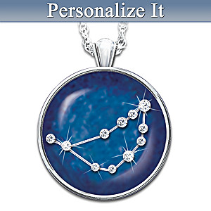 Birthday zodiac sign crystal astrology pendant necklace for Crystals and zodiac signs
