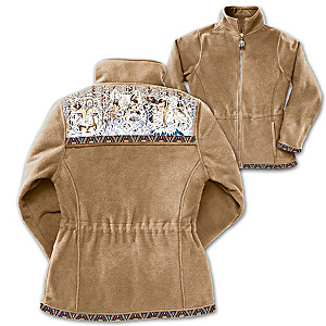 Diana Casey Hidden Image Wildlife Art Fleece Jacket