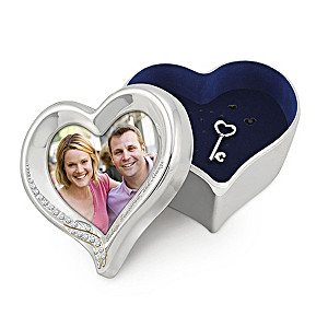 Engraved Recordable Keepsake Box And Photo Frame In One