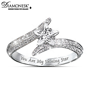 """My Daughter, You Are My Shining Star"" Diamonesk Ring"