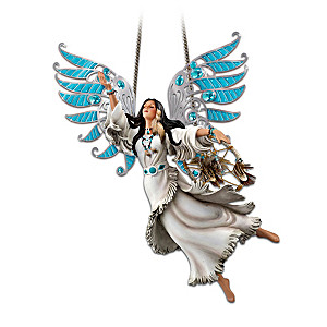 Native American-Inspired Maiden With Turquoise-Color Wings