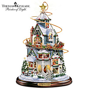 Christmas Decor With Thomas Kinkade Narration, Moving Sleigh