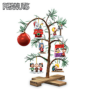 """PEANUTS Classic Holiday Memories"" Tabletop Tree"