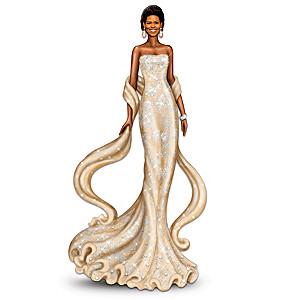 Michelle Obama Figurine With Swarovski Crystals