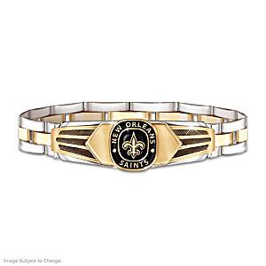 New Orleans Saints Men's Stainless Steel Bracelet