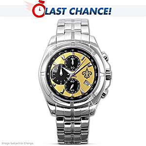 New Orleans Saints Super Bowl Stainless Steel Watch