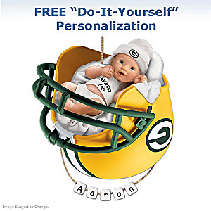 "Personalized ""Packers Fan"" Baby's First Christmas Ornament"