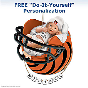 "Personalized ""Bengals Fan"" Baby's 1st Christmas Ornament"