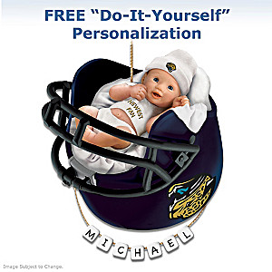 "Personalized ""Jaguars Fan"" Baby's 1st Christmas Ornament"