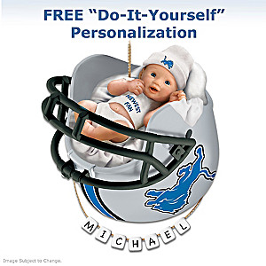 "Personalized ""Lions Fan"" Baby's First Christmas Ornament"