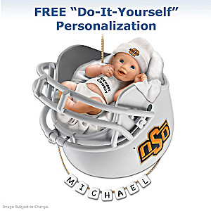 Personalized OSU Cowboys Fan Baby's First Ornament