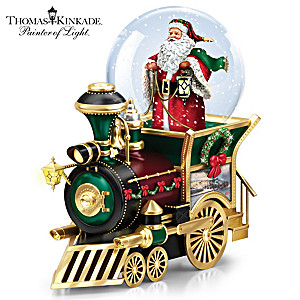 Musical Train Car With Kinkade Art And Snowglobe