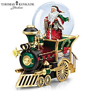 Musical Train Car With Kinkade Art And Snowglobe