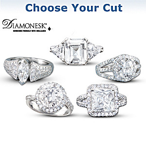Diamonesk Simulated Diamond Rings In High-Fashion Styles