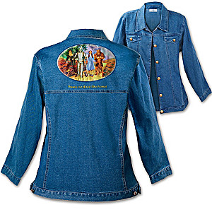 Wizard Of Oz Women's Denim Jacket With Authentic Movie Art