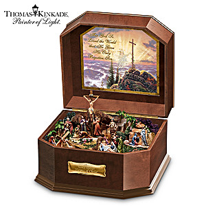 Religious Music Box With 5 Fully Sculpted Inspiring Scenes