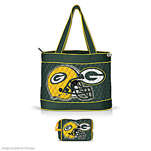 Green Bay Packers Tote Bag With Two Accessory Cases