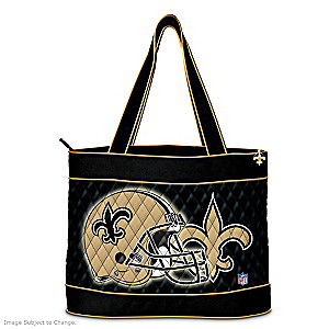 New Orleans Saints Tote Bag With Free Cosmetic Case