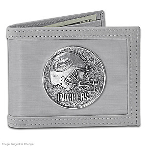 The Green Bay Packers Stainless Steel Wallet