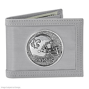 The New Orleans Saints Stainless Steel Wallet