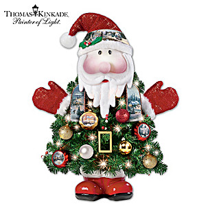 First-Ever Thomas Kinkade Pre-Lit Santa Tree
