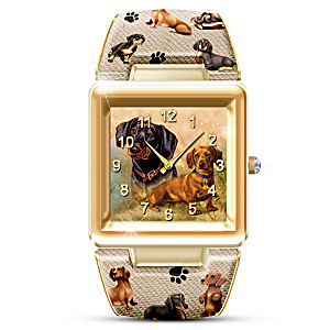 """I Love My Dog"" Swarovski Crystal Art Watch"