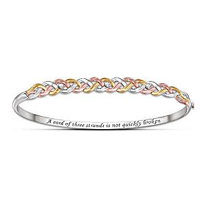 Tri-Color Diamond Bracelet Celebrates Love And Faith