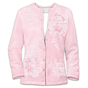 Breast Cancer Awareness Women's Cardigan Sweater