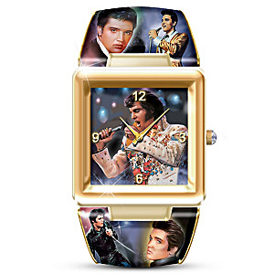 Elvis Presley Art Cuff Watch With 8 Portraits