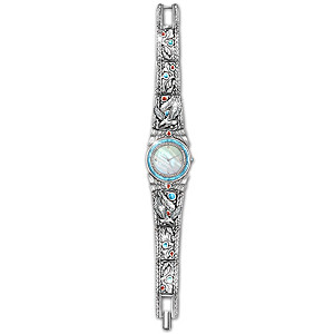 """Soaring Spirit"" Native American-Style Mother Of Pearl Watch"