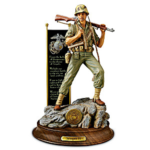 United States Marine Corps Sculpture Of World War II Marine