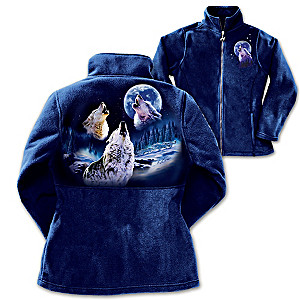 Robin Koni Wolf Art Women's Fleece Jacket