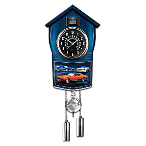 Camaro Wall Clock Lights Up With Revving Sound