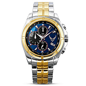 Engraved U.S. Air Force Commemorative Men's Watch