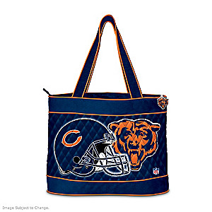 Chicago Bears Tote Bag With Free Cosmetic Case