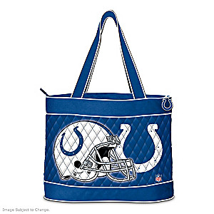 Indianapolis Colts Tote Bag With Free Cosmetic Case