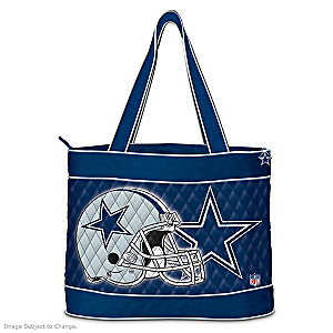 Dallas Cowboys Tote Bag With Free Cosmetic Case