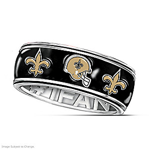 Officially Licensed New Orleans Saints #1 Fan Spinning Ring