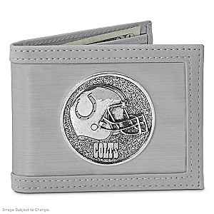 The Indianapolis Colts Stainless Steel Wallet
