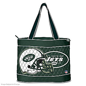 New York Jets Tote Bag With Free Cosmetic Cases