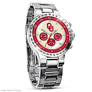 Oklahoma Sooners Commemorative Chronograph Watch
