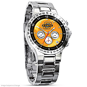 Oklahoma State Stainless Steel Commemorative Men's Watch