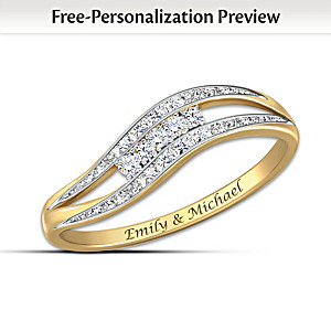 """Enchantment"" Personalized 10K Gold And Diamond Ring"