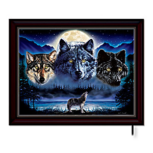 Vivi Crandall's Illuminated Wolf Art Canvas Print