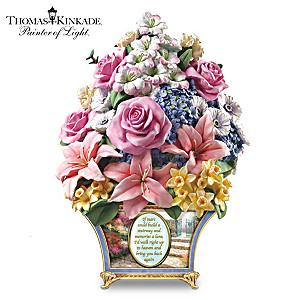 Thomas Kinkade Remembrance Floral Sculpture
