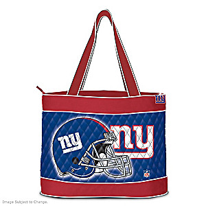 New York Giants Tote Bag With Free Cosmetic Case
