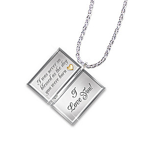 """Letter Of Love"" Silver Locket With Diamonds For Niece"